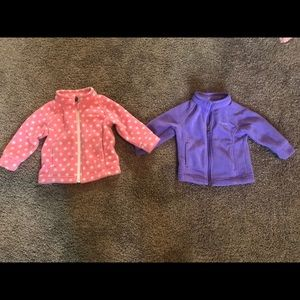 Girls Columbia fleece jackets